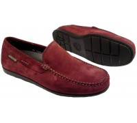 Mephisto ALGORAS red suede moccasin for men