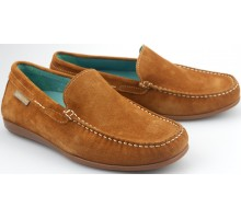 Mephisto ALGORAS brandy brown suede slip-on shoe for men