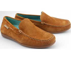Mephisto ALGORAS brandy brown suede slip-on shoe for men