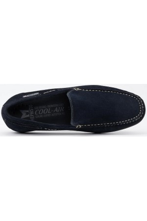 Mephisto ALGORAS jeans blue suede slip-on shoe for men