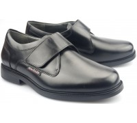 Mobils by Mephisto ATHOS black leather shoe with velcro for men with WIDE FEET