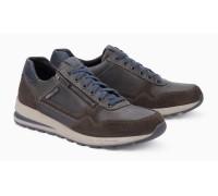 Mephisto BRADLEY leather sneakers for men dark grey