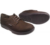 Mobils by Mephisto CASSEN dark brown nubuck laceshoe for WIDE FEET