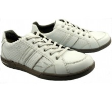 Allrounder by Mephisto DAGON white leather sneaker for men