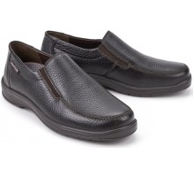 Mobils by Mephisto EWALD dark brown leather wide fit slip-on shoe for men