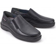 Mobils by Mephisto EWALD black leather wide fit slip-on shoes