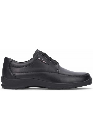 Mobils by Mephisto EZARD black leather lace-up shoe for wide feet