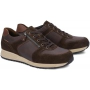 Mobils by Mephisto HERVE leather/suede sneaker dark brown    EXTRA WIDE