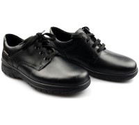 Mobils by Mephisto IAGO leather lace shoes for men black   WIDE FIT
