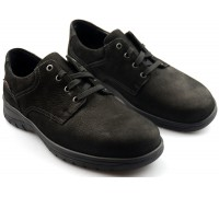 Mobils by Mephisto IAGO nubuck lace shoes for men black    WIDE FIT