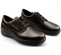 Mobils by Mephisto IAGO leather lace shoes for men dark brown  WIDE FIT