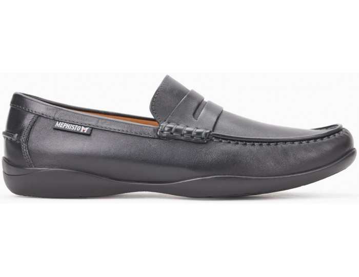IGOR Black Leather Men's Loafers