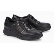 Mephisto JILL nubuck leather women fashion and walking sneaker black