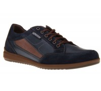 Mephisto NICOLAS blue leather suede men's sneaker