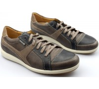 Mephisto NORIS graphite grey/brown leather lace shoes for men
