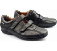 Mephisto ODEMAR black leather shoe for men with dubble velcro