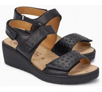 Mobils by Mephisto PENNY PERF Women's Sandal - Wide Fit - Black