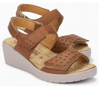 Mobils by Mephisto PENNY PERF Women's Sandal - Wide Fit - Brown