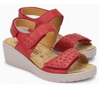 Mobils by Mephisto PENNY PERF Women's Sandal - Wide Fit - Red