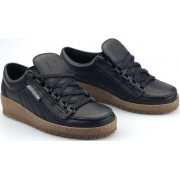 Mephisto RAINBOW black leather laceshoes for men