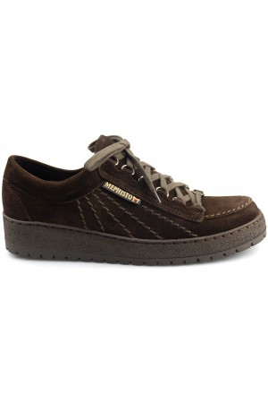 Mephisto RAINBOW dark brown suede lace-up shoe for men