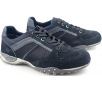 Allrounder by Mephisto TITANO ocean blue textile suede