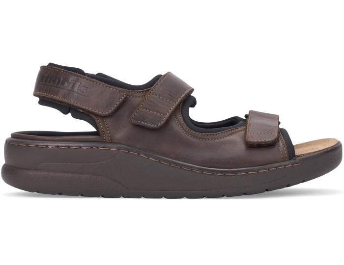 22e26390b7 Mobils by Mephisto VALDEN Men Sandal - Wide Fit - Dark Brown