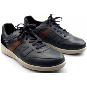 Mephisto VITO leather sneaker for men navy blue