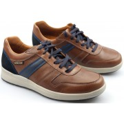 Mephisto VITO leather sneaker for men chestnut brown