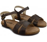 Mephisto BYLBA womens sandal - dark brown leather
