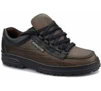 Mephisto CRUISER - men's lace-up shoe - dark grey leather