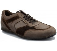 Mephisto CYRIAC - men's lace-up shoe - grey leather/suede