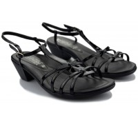 Mephisto ETNIE women's sandal - black patent leather