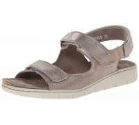 Mobils by Mephisto ILONA - women's sandal - vintage dark taupe leather - WIDE FIT