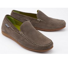 Mephisto ALGORAS dark grey suede slip-on shoe for men