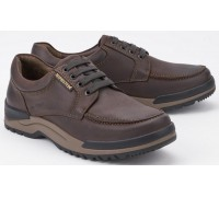 Mephisto CHARLES dark brown leather casual laceshoes for men