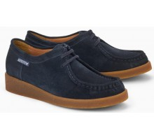 Mephisto CHRISTY suede women laceshoe blue
