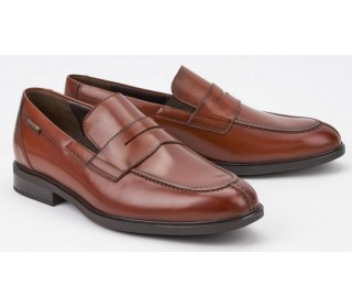 Mephisto FORTINO chestnut brown leather men's loeafer