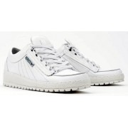 Mephisto RAINBOW white leather lace-up shoes for men
