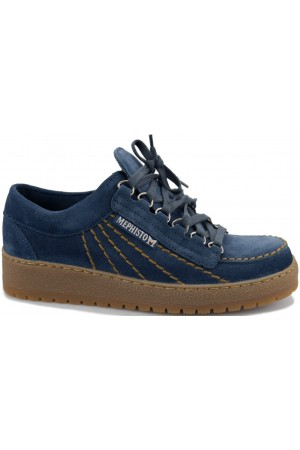 Mephisto RAINBOW blue suede lace shoes for men