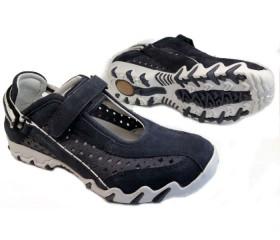 Allrounder by Mephisto NIMBO dark blue suede leather walkingshoe for women