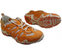 Allrounder by Mephisto FIOLA orange suede open mesh outdoor laceshoe for women
