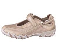 Allrounder by Mephisto NIMBO Perf suede mesh gold beige walkingshoe for women