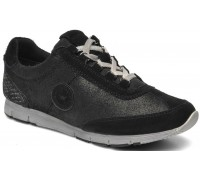 Allrounder by Mephisto JANIKA metallic black suede leather outdoor shoe for women