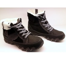 Allrounder by Mephisto NANGA black suede  WARM LINED (waterproof)