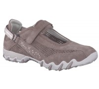 Allrounder by Mephisto NIMBO Perf suede mesh taupe walkingshoe for women