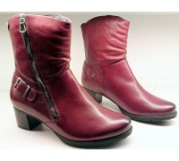 Mephisto DELANA oxblood red leather medium boots for women