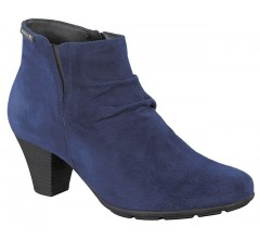 Mephisto BELMA indigo blue suede ankle boots for women