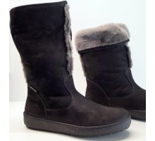 Mephisto ESTHER black nubuck boots with real lambskin lining