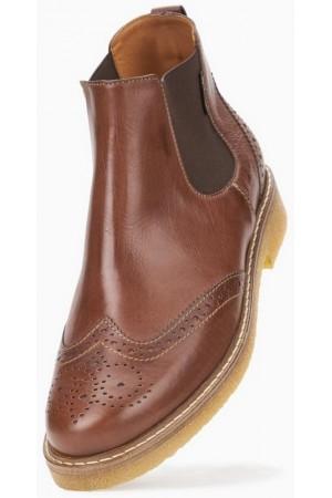 Mephisto FELICITA hazelnut brown leather chelsea boot for women